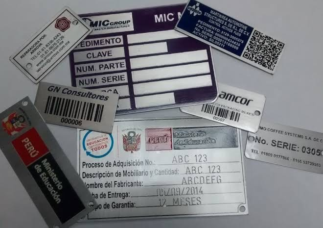 Screen-printed nameplates